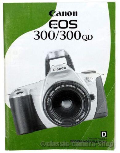 Gebrauchsanleitungen X2562 Canon Bedienungsanleitung CANON EOS 300 ...