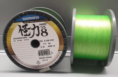 Shimano NEW Kairiki VT PE 0.16mm Mantis Green 10,3kg 10m 8 fach 0,129EUR//m