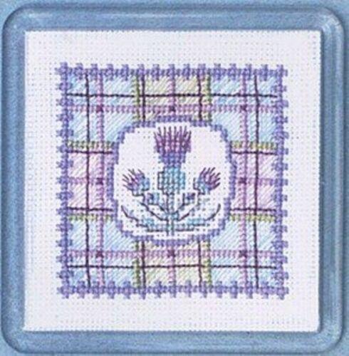 Tartan Thistles Textile Heritage Coaster Kit
