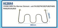 1550W 240V PIE WARMER ELEMENT PA100 PW100 PL80 PA80L PM60 810A 820 HC0044