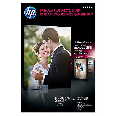 "New HP Premium Plus Photo Paper Inkjet SOFT GLOSS 8.5/"" x 11/"" ~ 25 Sheets"