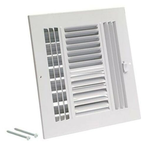 Ez-Flo 61617 Four-Way Sidewall//Ceiling Register