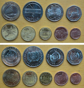 Central African coins set of 8 pieces 2006 VF-UNC