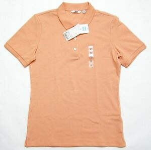 93628760 ... usa image is loading uniqlo women stretch pique short sleeve polo shirt  fc95a 7166a