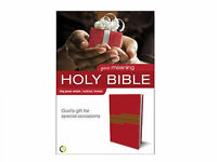 Boxed Holy Bible Italian Leather Duo Tone Red/brown King James Zondervan