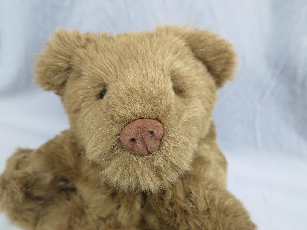 NORTH AMERICAN BEAR CHOCOLATE BROWN TEDDY POTBELLIED CUBBIE 1996 PLUSH STUFFED