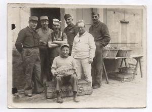 Détails sur Photo ancienne MILITAIRE SOLDAT Campagne 1939 Cuisinier Cuisine  5eme Cie 22 BOA