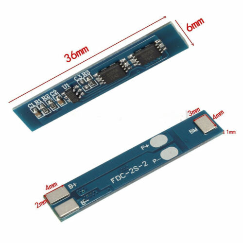 2X 2S Li-ion Lithium Battery 18650 Charger Protection Board Module 3A 7.4V 8