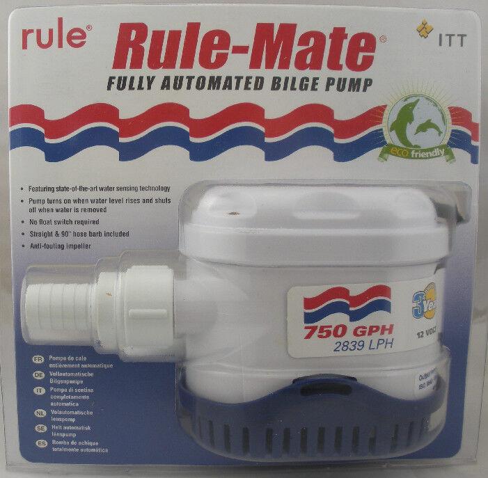 Rule RM750A Rule-Mate Voll Auto Pumpe 750 GPH 3 4   4363