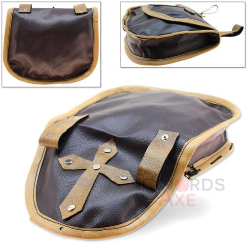 Bishops Medieval Belt Pouch Holy Cross Cordura Leather Bag Renaissance Festival