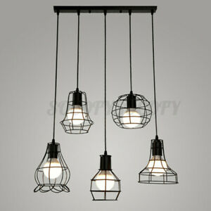 Vintage-Retro-Lampshade-Pendant-Trouble-Light-Bulb-Guard-Cage-Ceiling-H-H-J