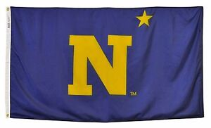 U-S-United-States-Naval-Academy-Official-Outdoor-Dyed-Nylon-Flag-Grommets-3-039-X5-039