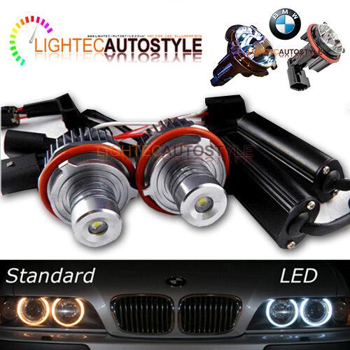 BMW E39 E87 E53 E60 E63 E64 E65 H7 ANGEL EYES LED LIGHT 20W CREE CANBUS BULBS UK