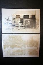 Lot of 2 Vintage Unposted Renfro Sepia Caribbean RPPC AZO Bridgetown Sugar Mill