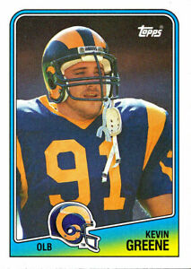 online retailer e8c9c 388cb Details about TOPPS Kevin Greene RC RAMS STEELERS PANTHERS 49ERS Auburn  TIGERS HOF