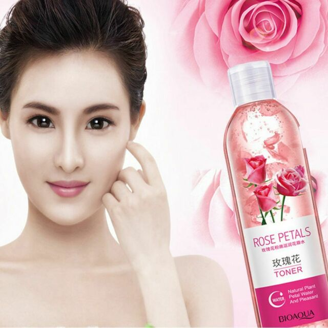 BIOAOUA Rose Petals Essence Water Face Tonic Shrinks Cool Whitening Anti-aging