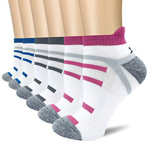 BERING Mens Athletic Cushion Crew Socks for Running 6 Pack Work Workout