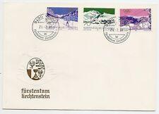 Fürstentum Liechtenstein 1979, Mi-Nr. 735 - 737, Olympia Skisport, Stempel Vaduz