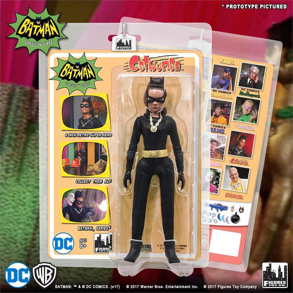 DC BATMAN retro classic TV series 6 EARTHA KITT CATWOMAN 8  figure NEW