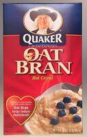 Quaker Oat Bran Hot Cereal 16 Oz
