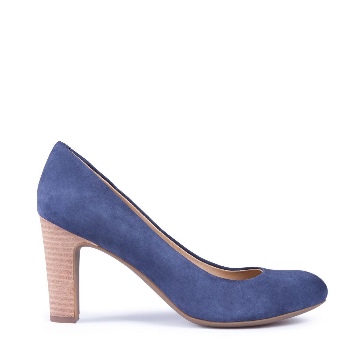 GEOX shoes women DECOLLETE' LINEA MARIELE CAMOSCIO blue