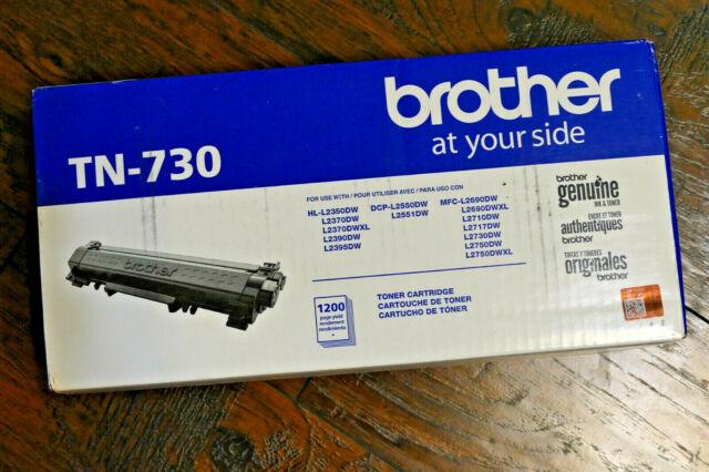 GENUINE Brother TN-730 BLACK TONER CARTRIDGE - HL-L2350DW L2370DW