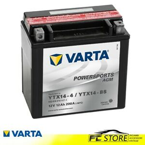 BATTERIA-MOTO-12Ah-200-A-di-spunto-12V-YTX14-BS-YTX14-4-AGM-VARTA-512014010