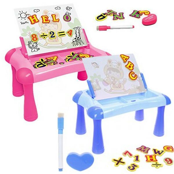 LARGE KIDS MAGNETIC LEARNING DESK SKETCH SCRIBBLER LETTERS NUMBERS FUN GIFT XMAS