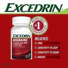 Excedrin Migraine Acetaminopohen Aspirin (NSAID) Pain Reliever 300 Caplets