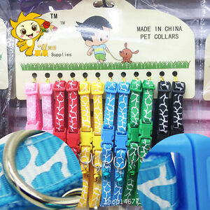 12PCS-Lot-Dog-Collars-Pet-Cat-Puppy-Color-Buckle-Nylon-Collar-W-Bell-Wholesale