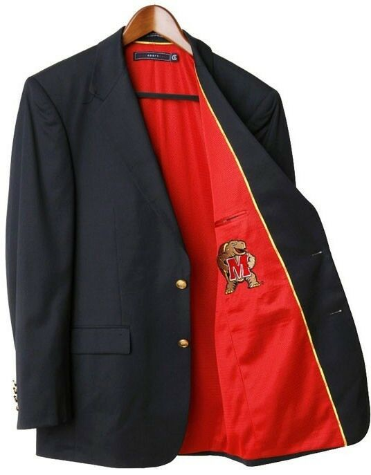 Maryland Terrapins Team Blazer Licensed Logo Sport Coat - Short - Regular - Tall