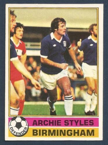 TOPPS 1977 FOOTBALLERS #019-BIRMINGHAM CITY-EVERTON-ARCHIE STYLES