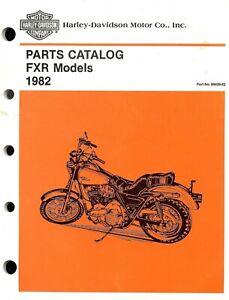 1982 Harley Davidson Fxr Motorcycle Parts Catalog Manual Fxr Fxrs Ebay