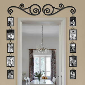 Gallery Wall Frames Set 12-piece over the door mirror scroll photo frame set gallery wall