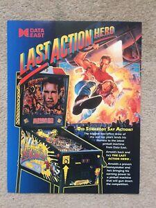 LAST ACTION HERO DATA EAST ORIGINAL PINBALL FLYER MINT.
