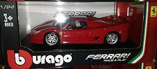 Ferrari F-50 Die-cast Sports Car 1:24 Bburango Race and Play 8 inch Red