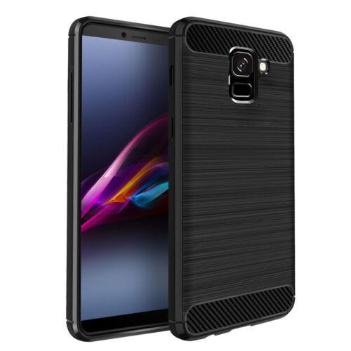 Case Cover SDTEK Funda para Samsung Galaxy J6 Fibra de Carbon TPU
