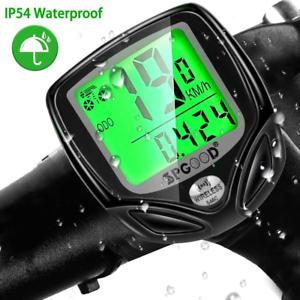 SPGOOD Vélo Ordinateur Sans Fil 16 Fonctions Waterproof LCD vélo de vitesse Indicateur de vitesse