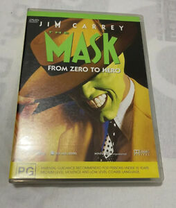 The-Mask-DVD-Jim-Carey-Cameron-Diaz-Family-Comedy-Classic-PAL-4-PG-Free-Ship