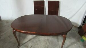 Details about Thomasville Cherry Dining Room Table Queen Anne