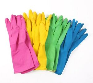 12 Pairs Household Rubber Washing Up Cleaning Gloves All