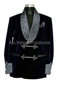 Men-Elegant-Luxury-Designer-Navy-Blue-Quilted-Smoking-Jacket-Party-Wear-Blazer