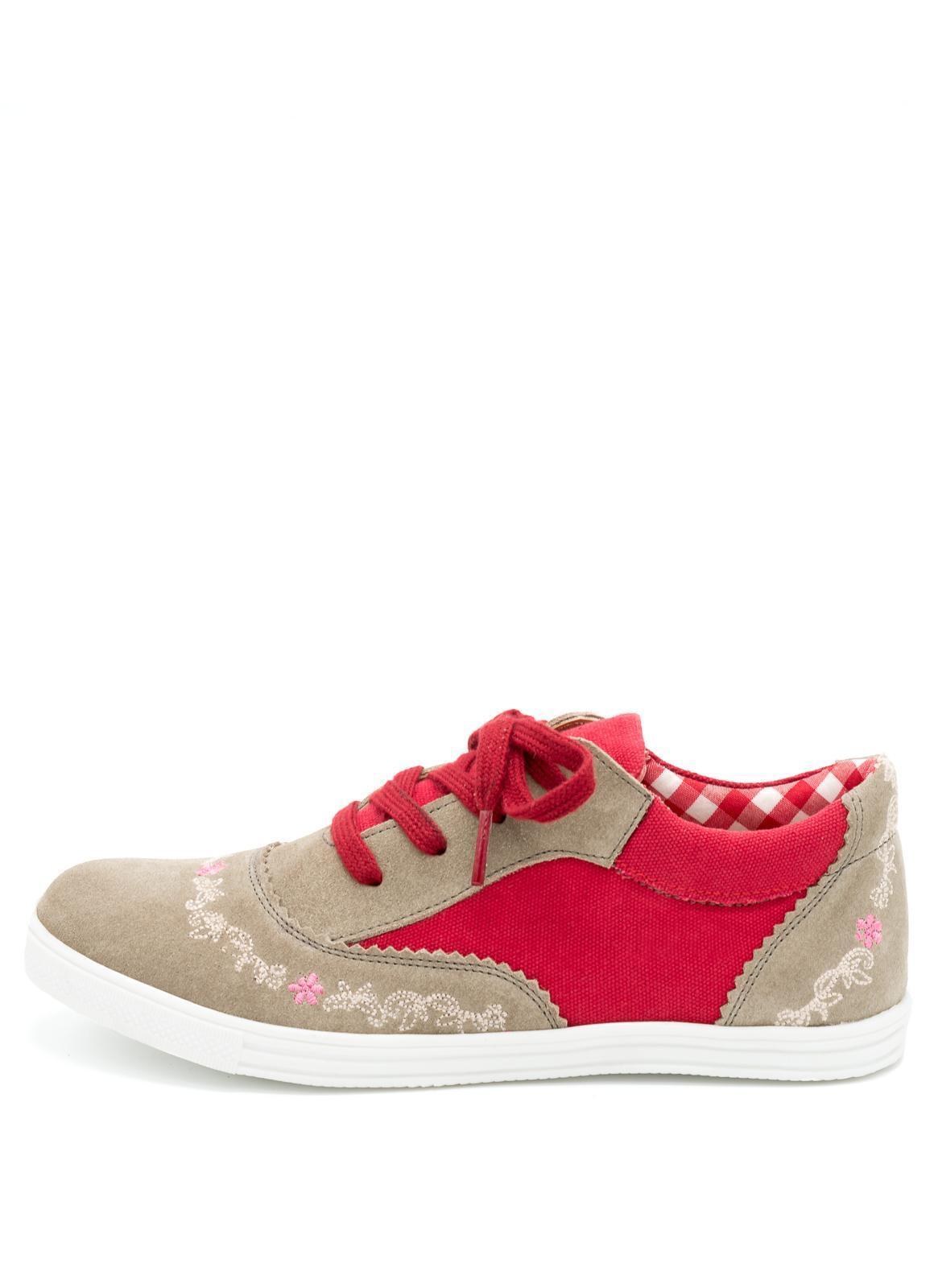 SPIETH & WENSKY-Sneaker donna, isola in rosso (030111-1275)