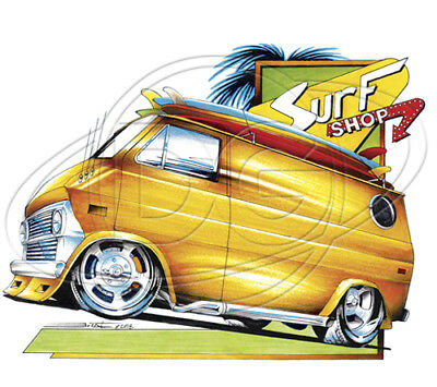 FORD HOT ROD T-SHIRT SURF WOODY