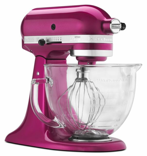 KitchenAid 5-Quart Glass Bowl Artisan Design Series Stand Mixer KSM155GBRI, New