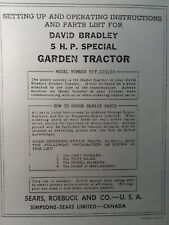 David Bradley Sears 917575120 Garden Tractor Amp Plow Owners Amp Parts 2 Manuals