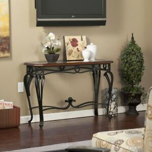 Terrific Details About Entry Table Front Console Living Room Sofa Accent Unique Chic Wrought Iron Legs Dailytribune Chair Design For Home Dailytribuneorg