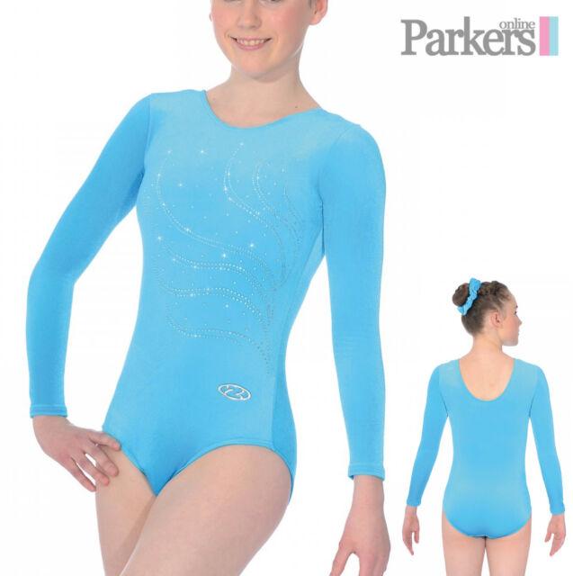 7e3785a8349a Tiara Girl s Zone Gymnastic Long Sleeve Leotard Kingfisher With ...