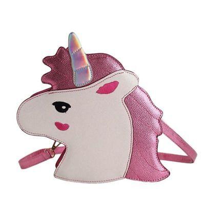 Girls Shoulder Bag Cute Unicorn PU Cartoon Women Messenger Bag Mobile Coin Purse