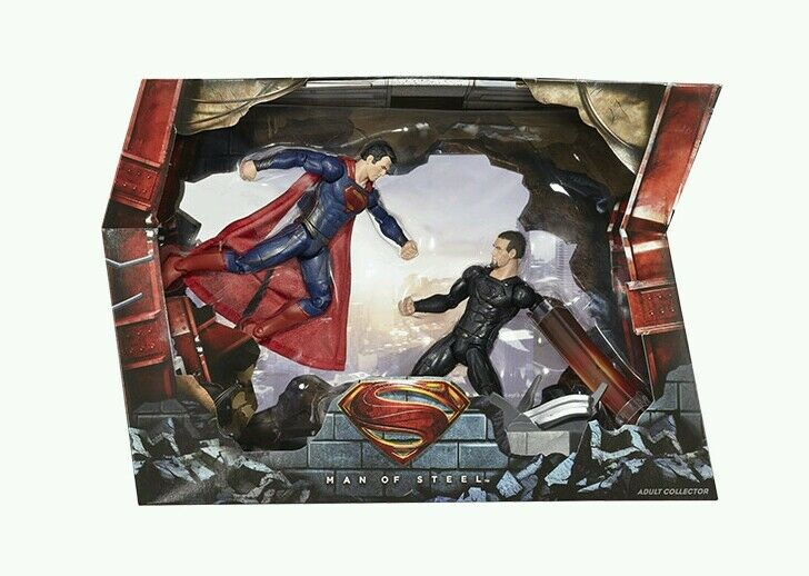 Matty Matty Matty Collector DC Man of Steel Movie MastersSuperman vs. General Zod Movie PK b50ce0